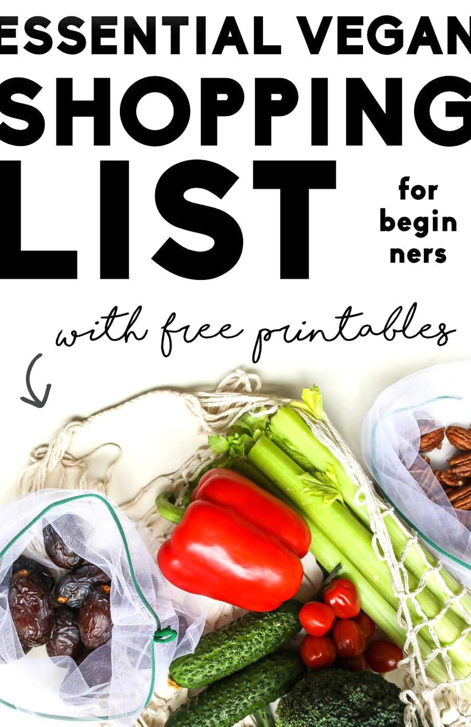 Looking for the ultimate vegan grocery list that features