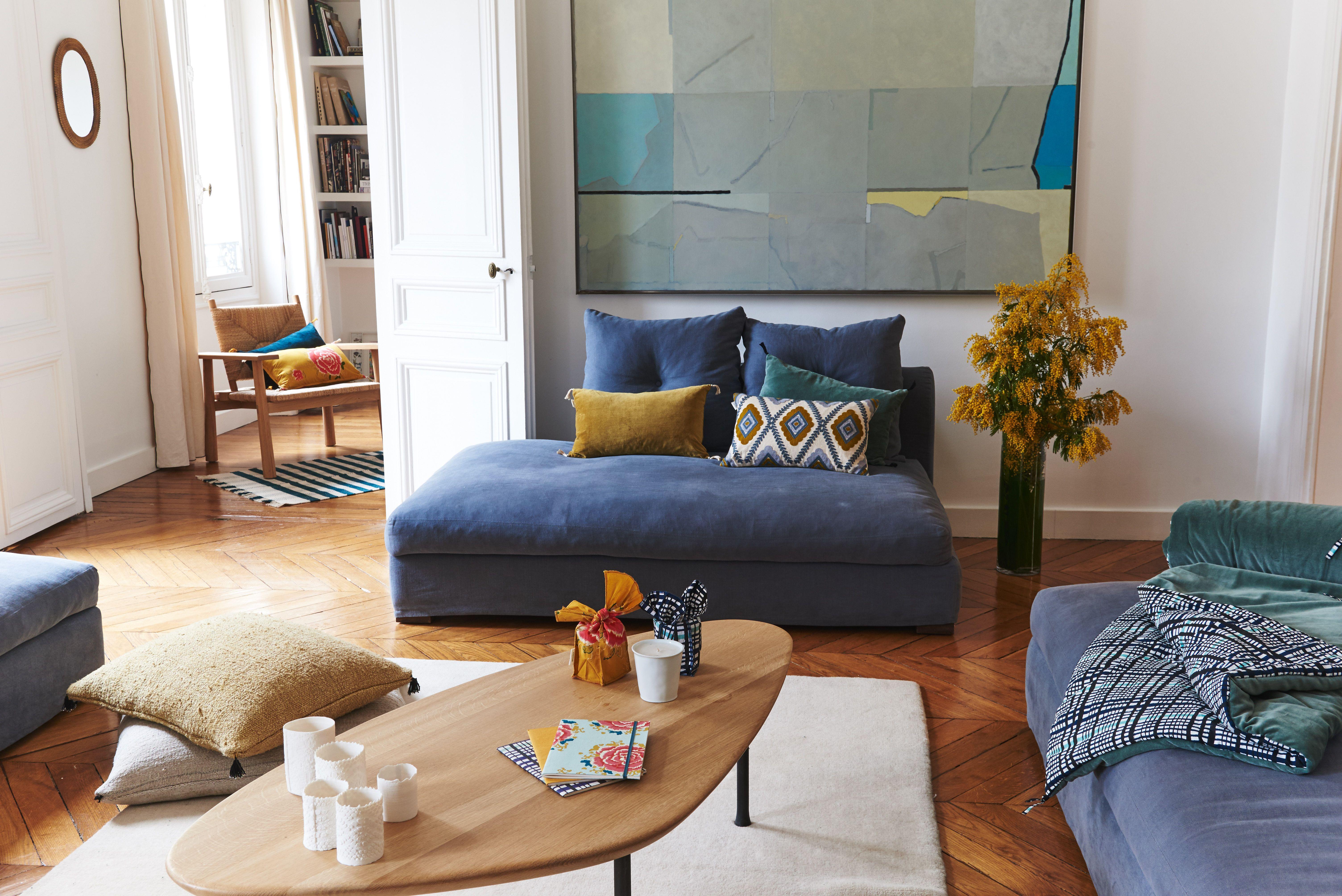 Zeuxis Art Galerie Appartement Deco Inspiration Salon Coussin - Canape tanguy design