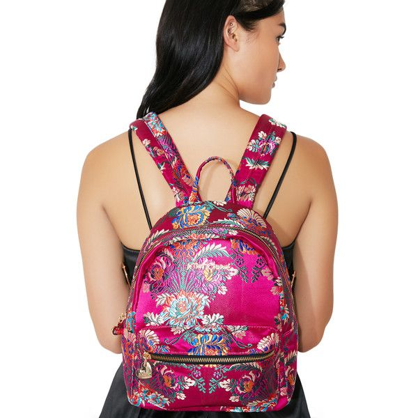 da550c95673 Betsey Johnson Satin Chinoiserie Backpack ( 88) ❤ liked on Polyvore  featuring bags, backpacks