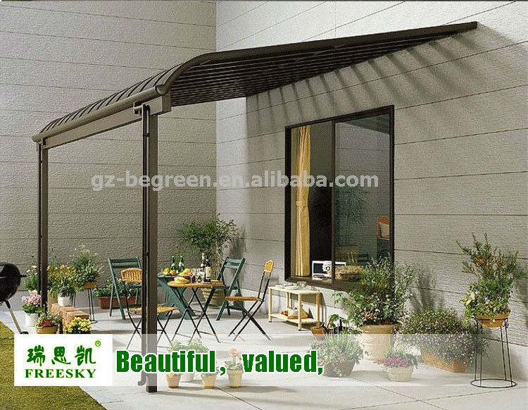 2x2 3m Plastic Roof Pergola Gazebo Patio Cover Aluminum