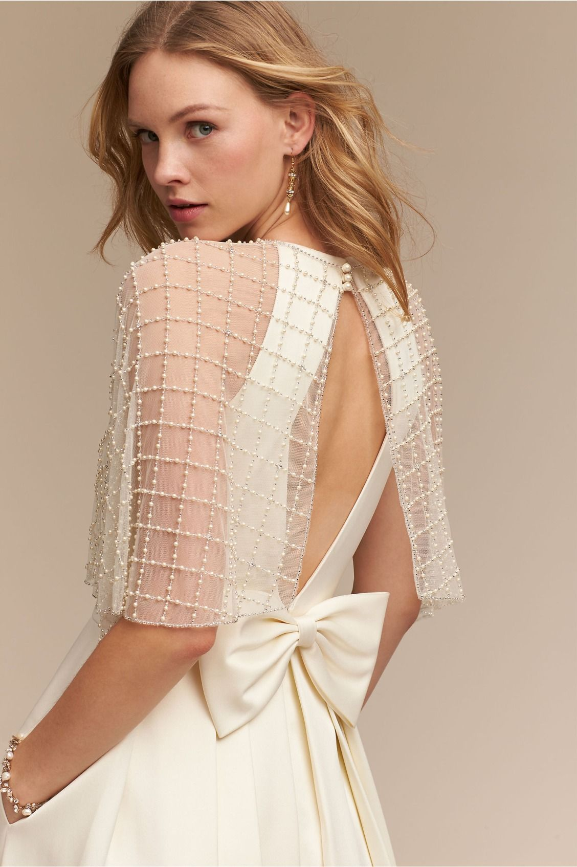 Latticed crystals and pearls astair capelet from bhldn design your own wedding dress online with bhldns build your own look feature mix and match bridal separates to create your perfect wedding gown look ombrellifo Gallery