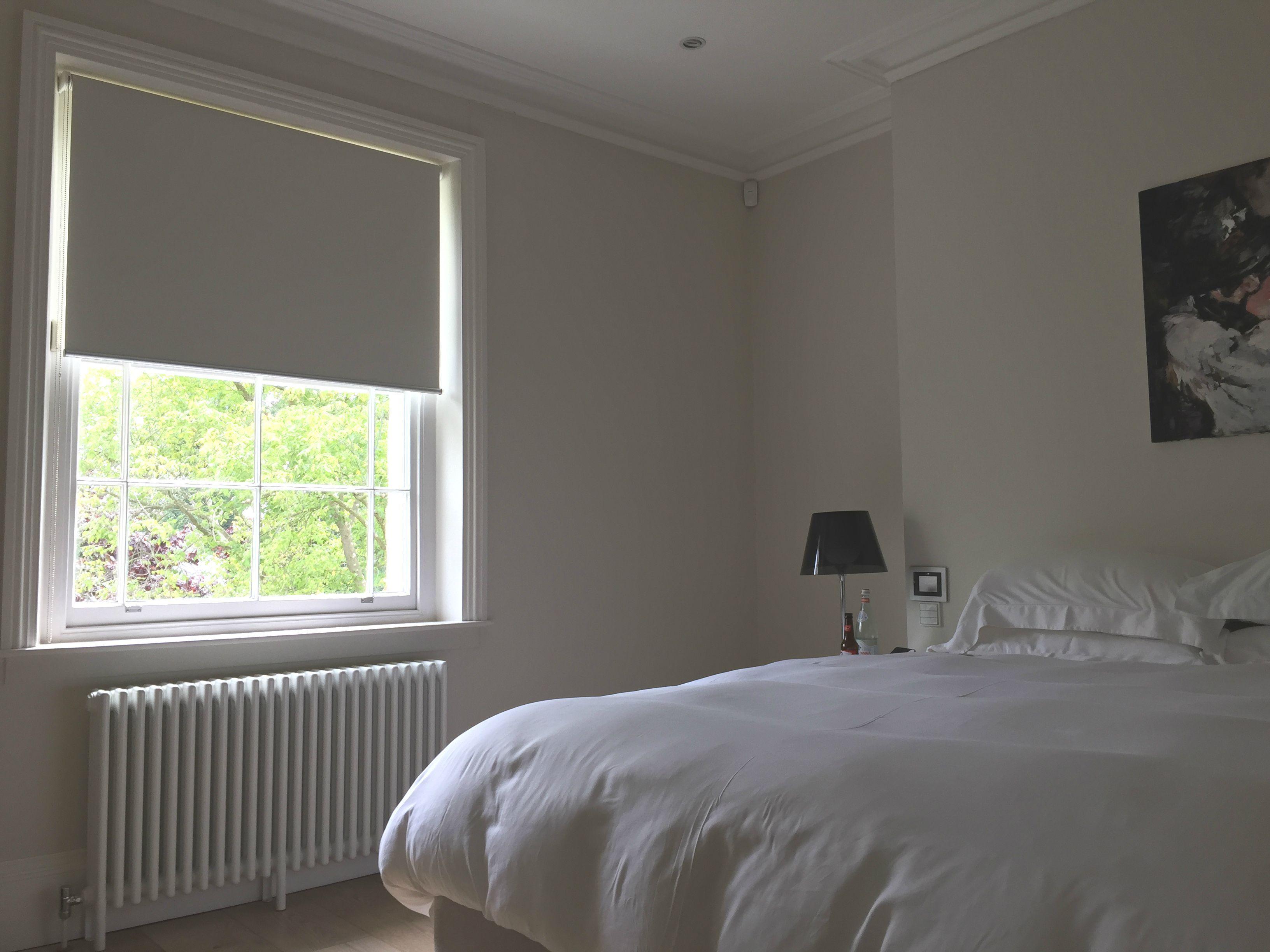 Blackout Roller Blind For Bedroom Window White Blind Sash