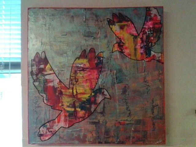 Acrylmaleri Duer Fugle
