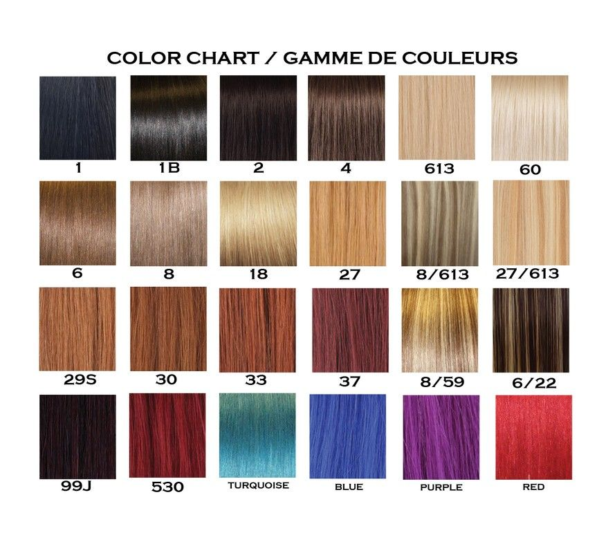 Remy Extensions Colour Chart 31