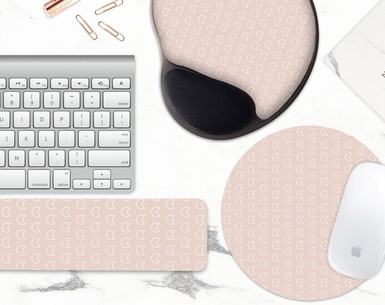 Moon Mouse Pad Keyboard Wrist Rest