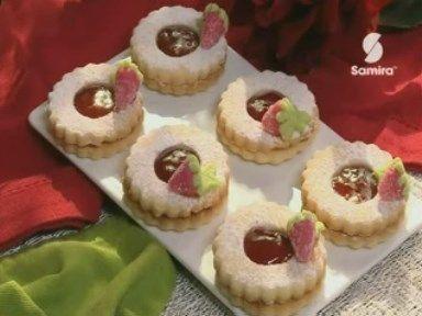 Recette de gâteau sec, Les sablés à la fraise, By Samira tv, Algérie