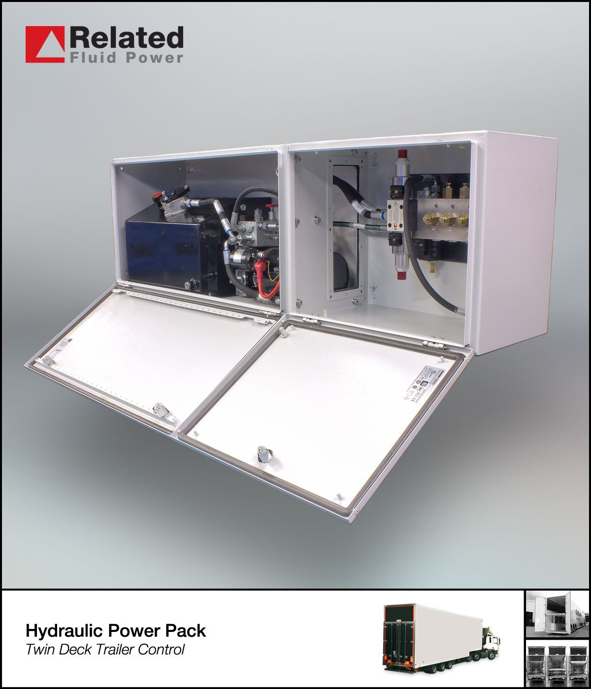 Hydraulic Power Packs And Units Custom Design Ac Dc Control Unit Description Articulated Truck Twin Deck Trailer Find Out More On Our