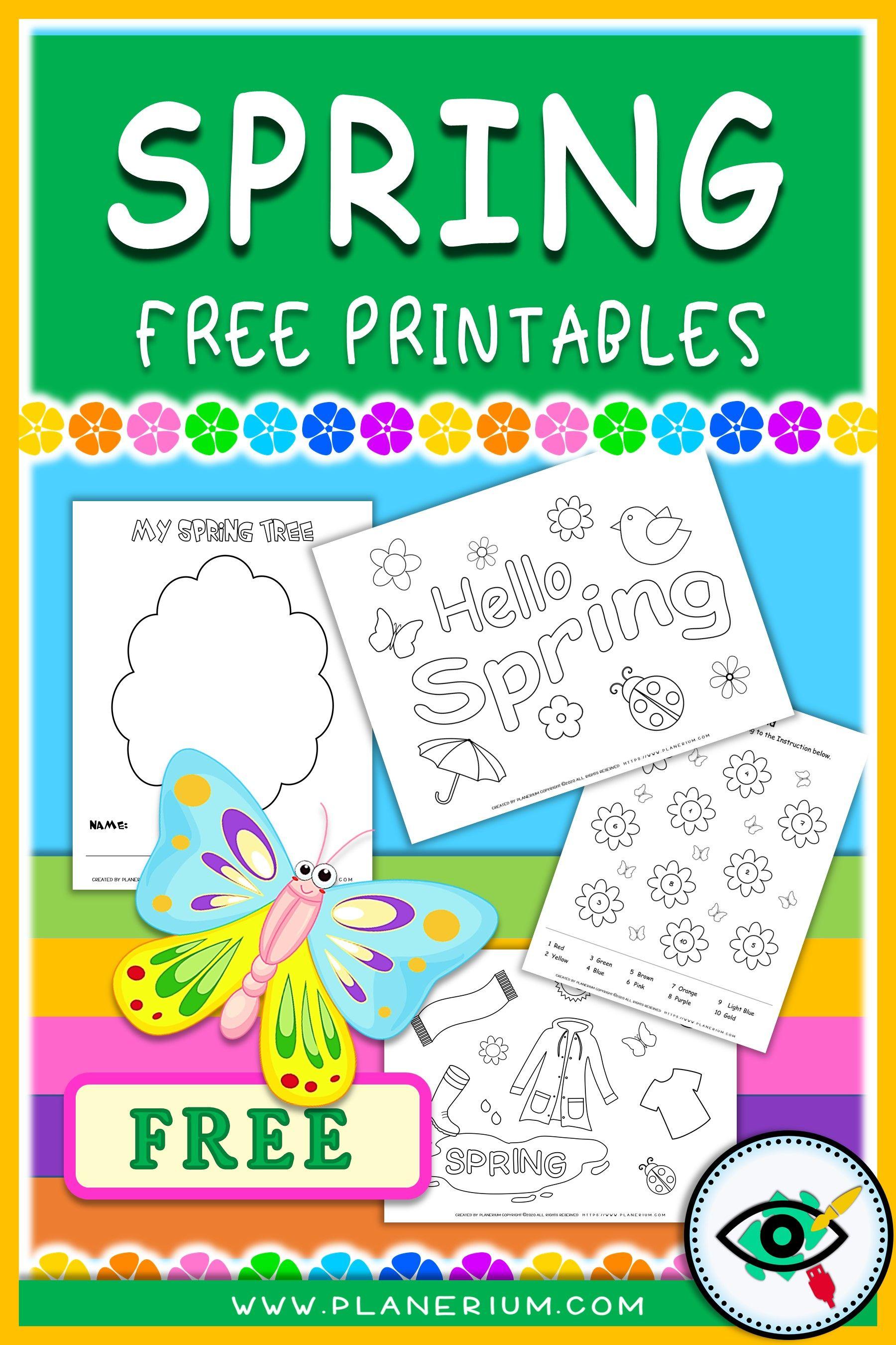 Best Printables For Spring 2021 Planerium Fun Worksheets For Kids Spring Kindergarten Spring Printables Free Kids [ 2700 x 1800 Pixel ]
