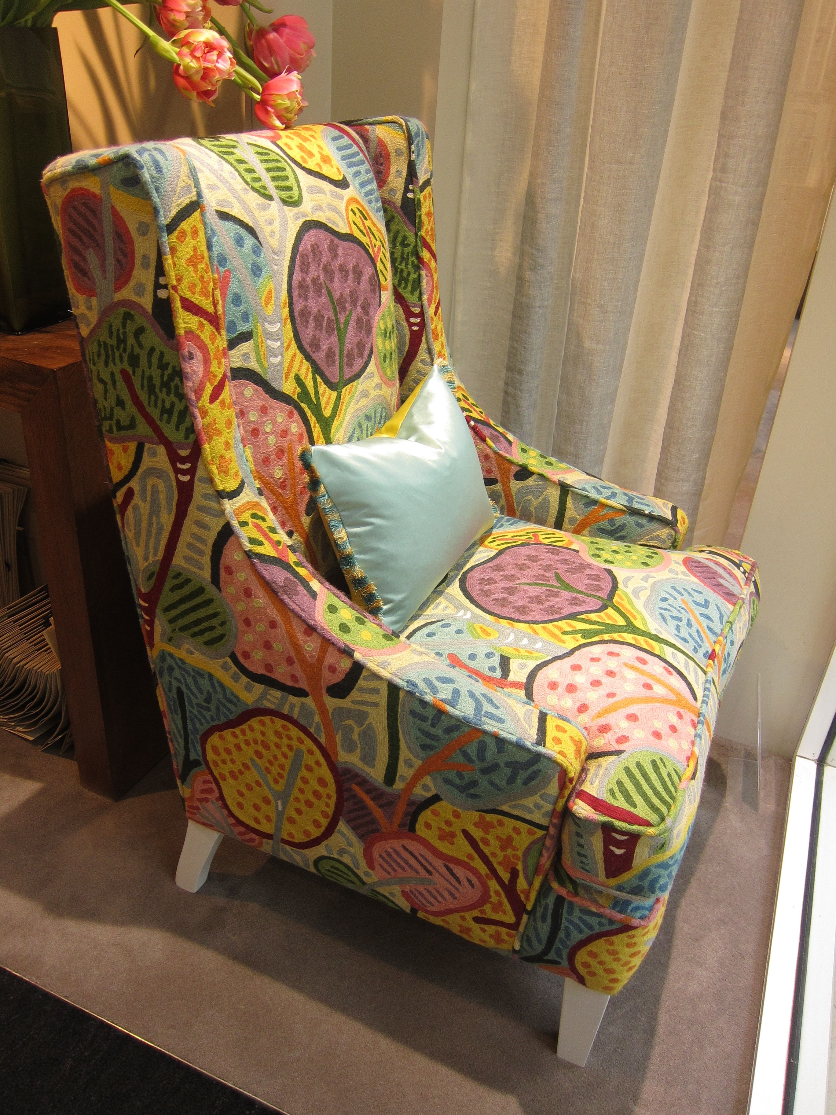 Amazing Chair Covered In Clarence House   Kharif Crewel Spotted At The Turnell U0026  Gigon Showroom @designcentrech