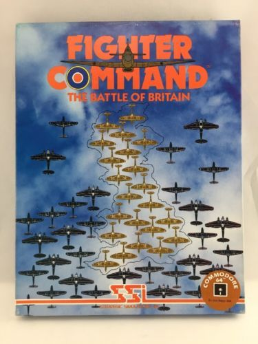 SSI Fighter Command Simulated Computer War Game Commodore 64