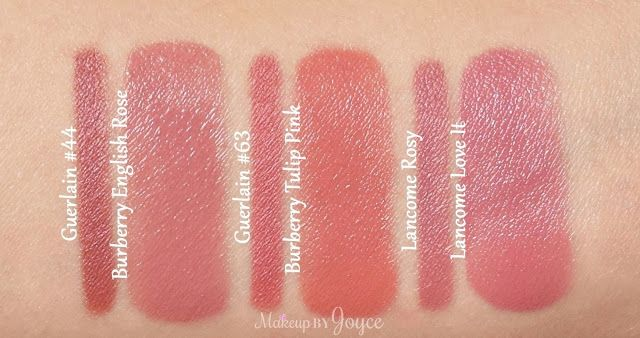 Swatches Comparisons Guerlain Lancome And Illamasqua Lip