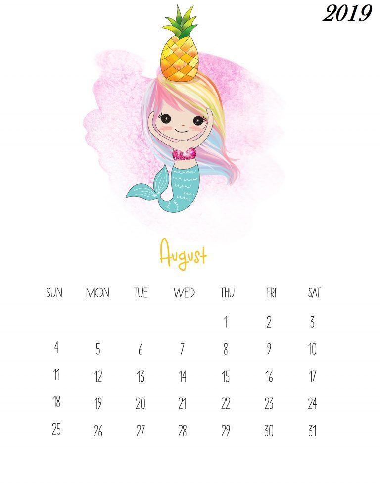 Free Printable 2019 Kids Calendar Com Imagens Calendario Para