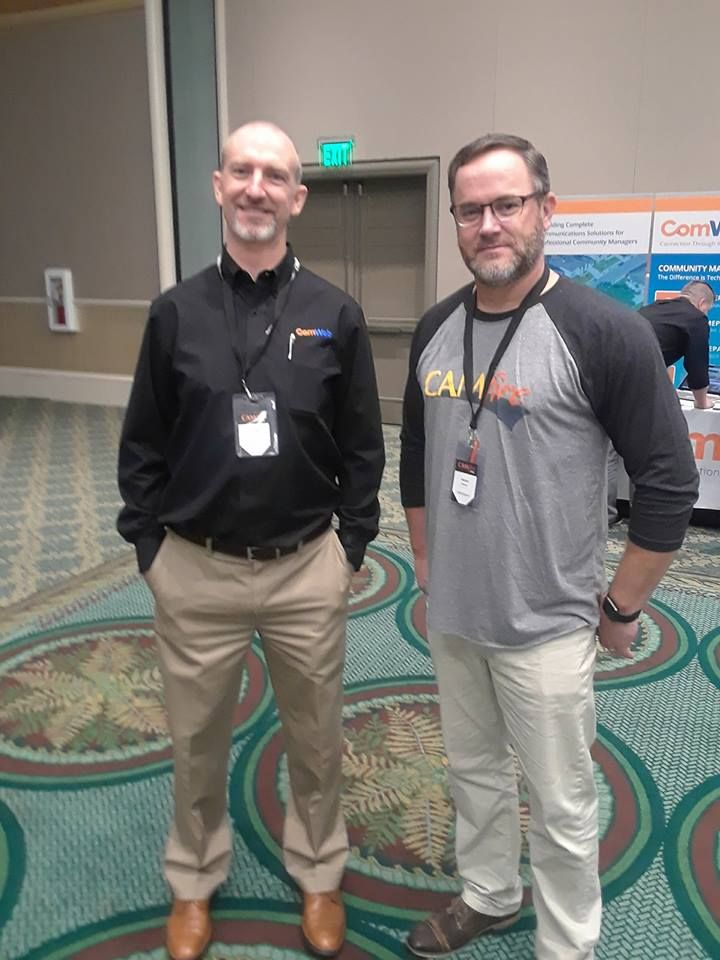 Patrick and clyde at the 2018 camfire conference in