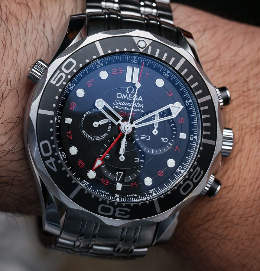Omega Seamaster 300m Chronograph Gmt Co Axial Watch Hands On Ablogtowatch Omega Seamaster Watches For Men Luxury Watches For Men