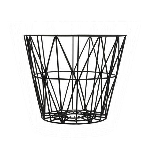 Wire Basket small black - Cesto Wire piccolo nero