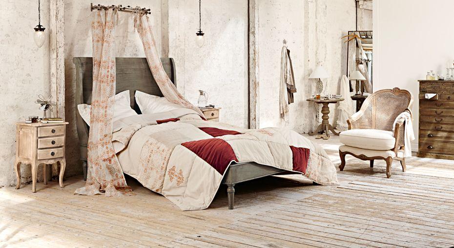 romantisches schlafzimmer aus nat rlichen materialien loberon romantic herbst pinterest. Black Bedroom Furniture Sets. Home Design Ideas