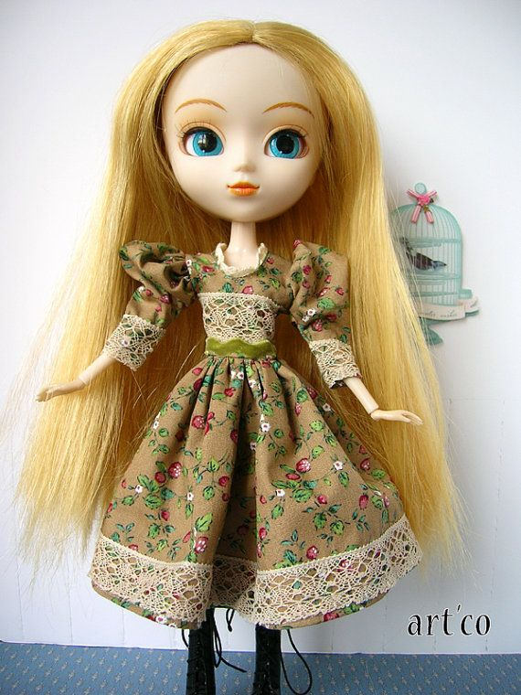 coton dress and lace for Pullip. An Art'co by PullipBlytheFashion, €18.00