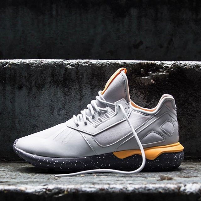 finest selection 13a79 c7217 ... adidas Originals Tubular Runner Clear GreyOnixNeon Orange ...