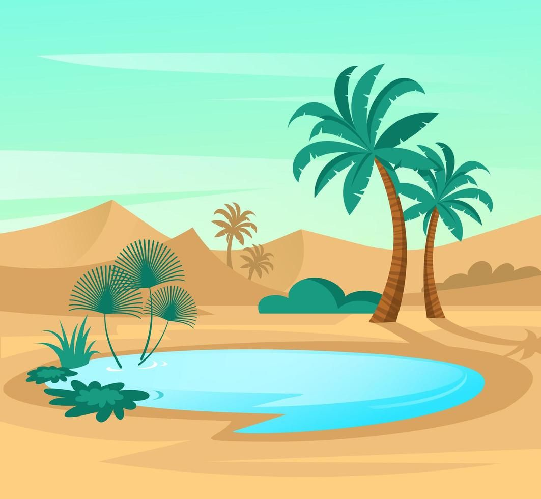 Download Oasis in desert for free
