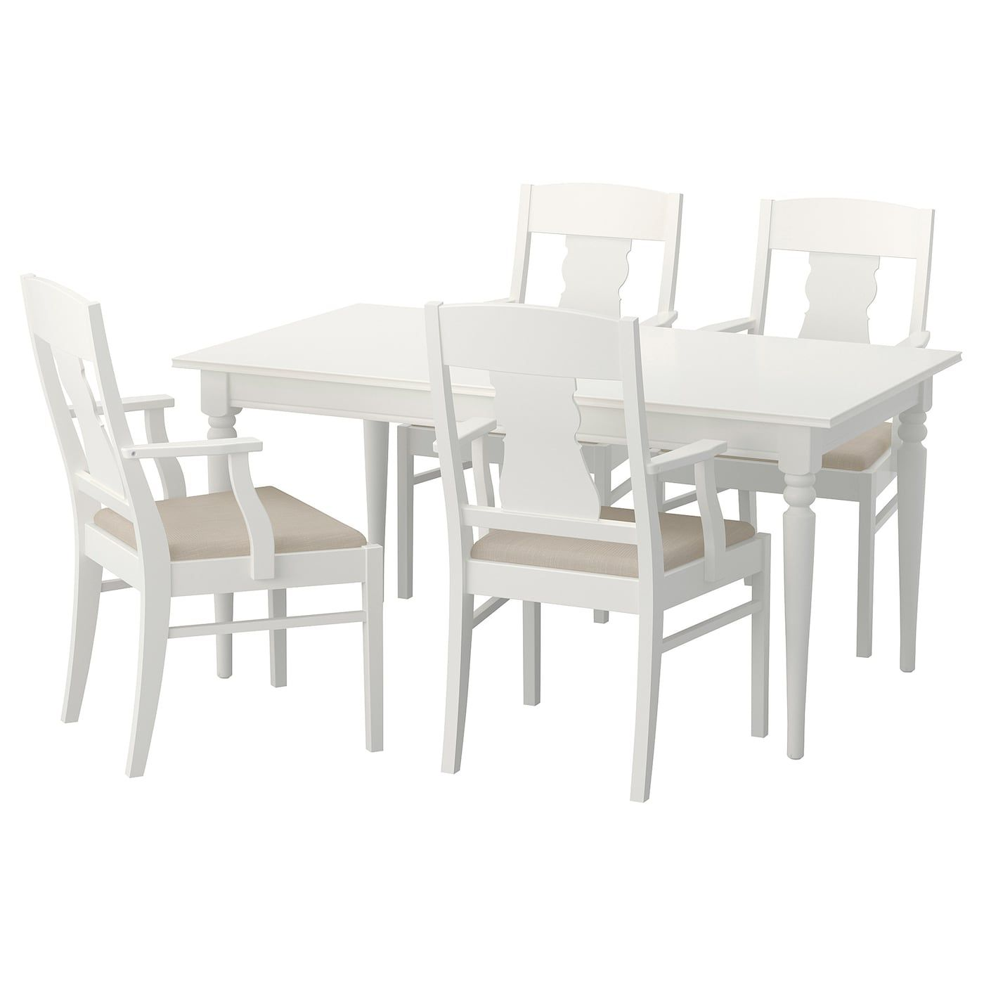 INGATORP / Tisch und 4 Stühle weiß Ikea stuhl, Ikea