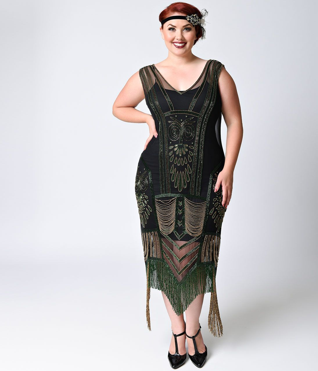 1920 plus size vintage dresses