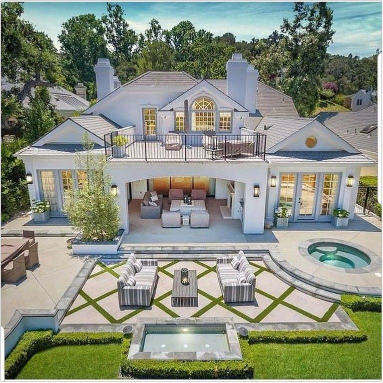 32 Outdoor Patio Ideas For The Exterior Of Your Dream House 20 Ideasfyou Luxury Homes Dream Houses House Designs Exterior Dream House Exterior