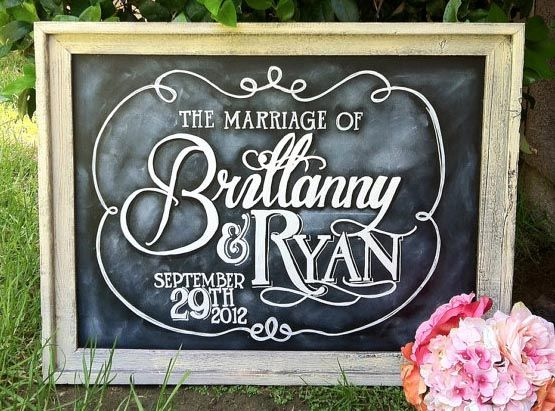 From Bravobride Sign By I Do Declare Signs Is A 18x24 Customized Chalkboard