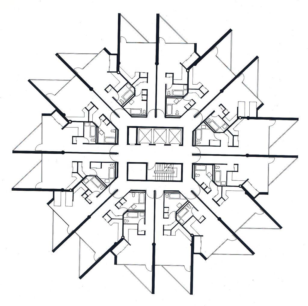 Beirut Urban Complex - Tower Typical Studio Floor Plan ...