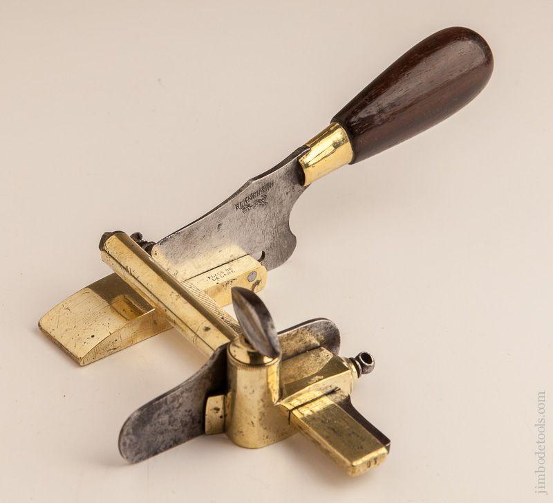 Fine And Fancy Brass Blanchard Paris Leather Plough Plane
