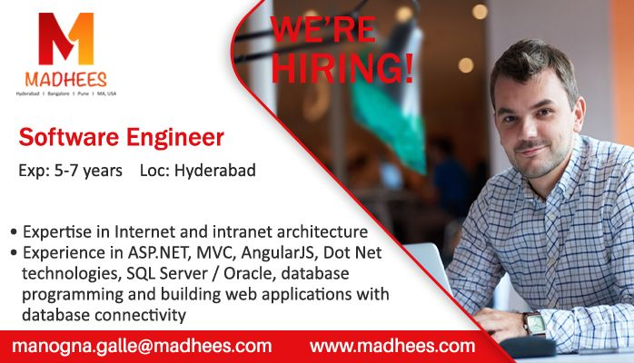 Job Alert Software Engineer With 5 7 Years Experience In Angularjs