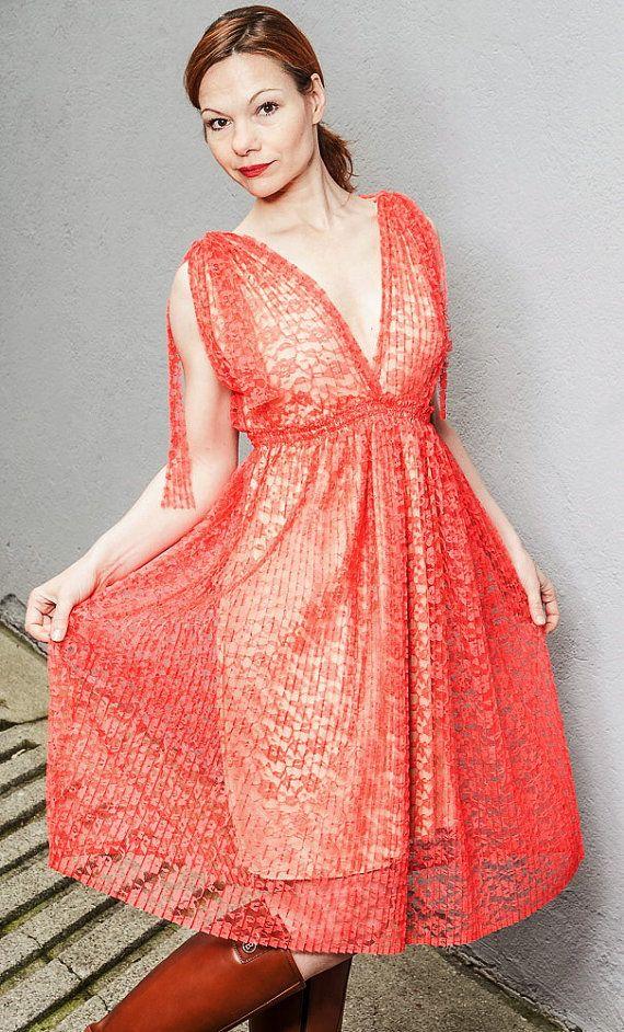 Kleid rot tull