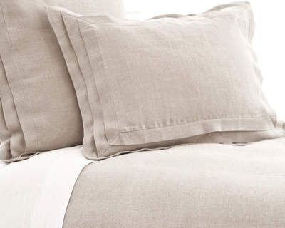 #PineConeHill Pleated Linen Natural Duvet Cover