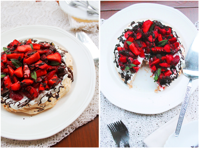baker in disguise: Pavlova with Strawberries