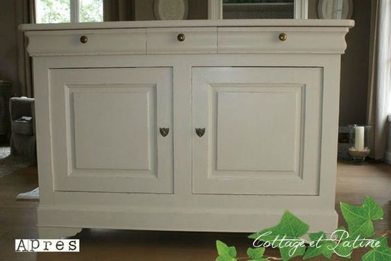 Buffet bas louis philippe relooking meubles peindre - Repeindre meuble louis philippe ...