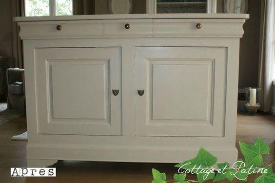 Buffet bas louis philippe relooking meubles peindre meuble bois mobilier de salon et - Peindre des meubles en bois ...