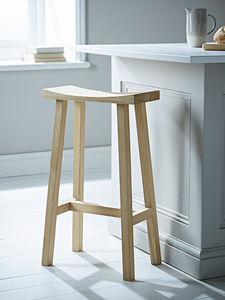 Curved Top Oak Stool - Eau De Nil | Seating | Pinterest | Curve tops ...