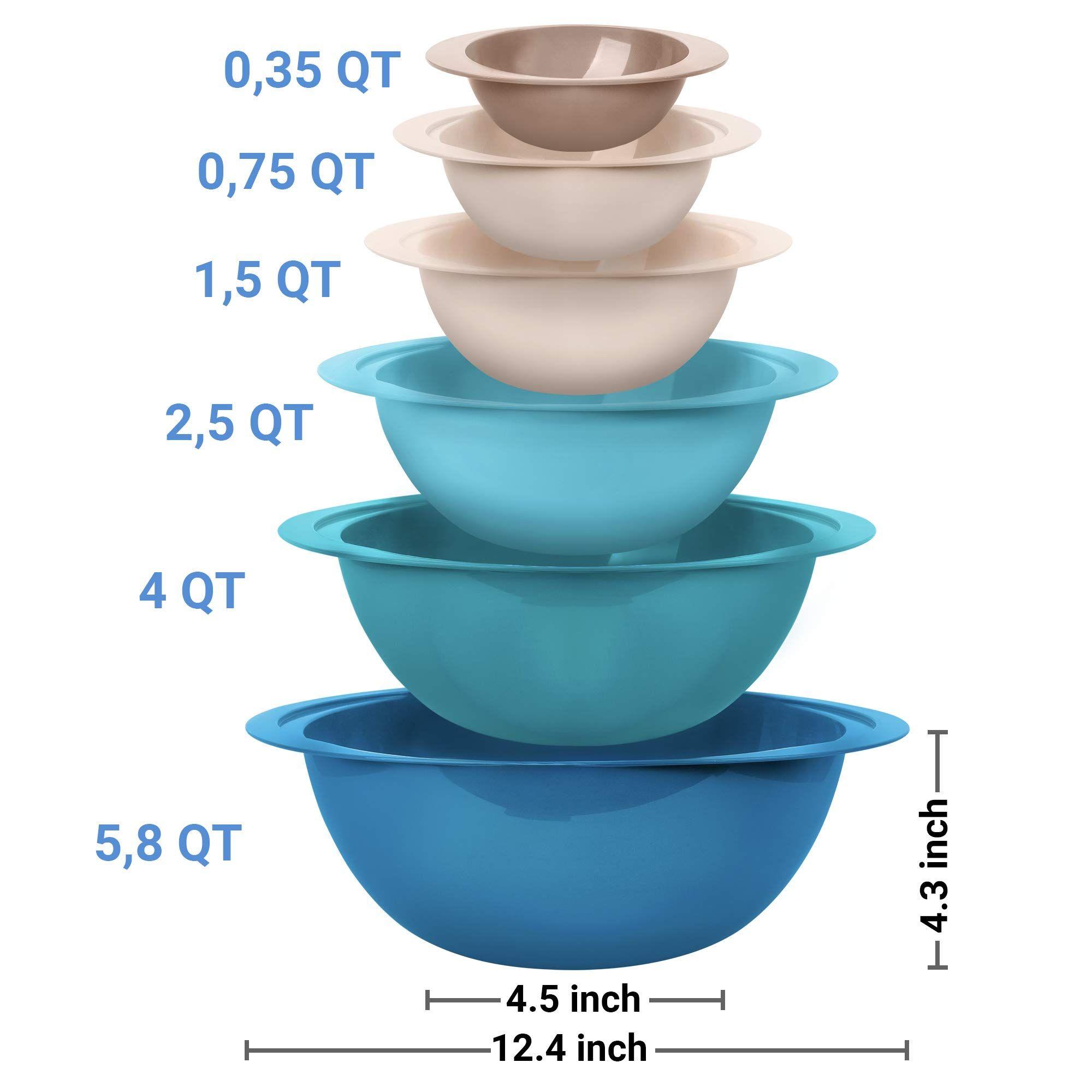 pyrex 1071025 Pyrex Smart Essentials 6Piece Glass Mixing Bowl Set Clear