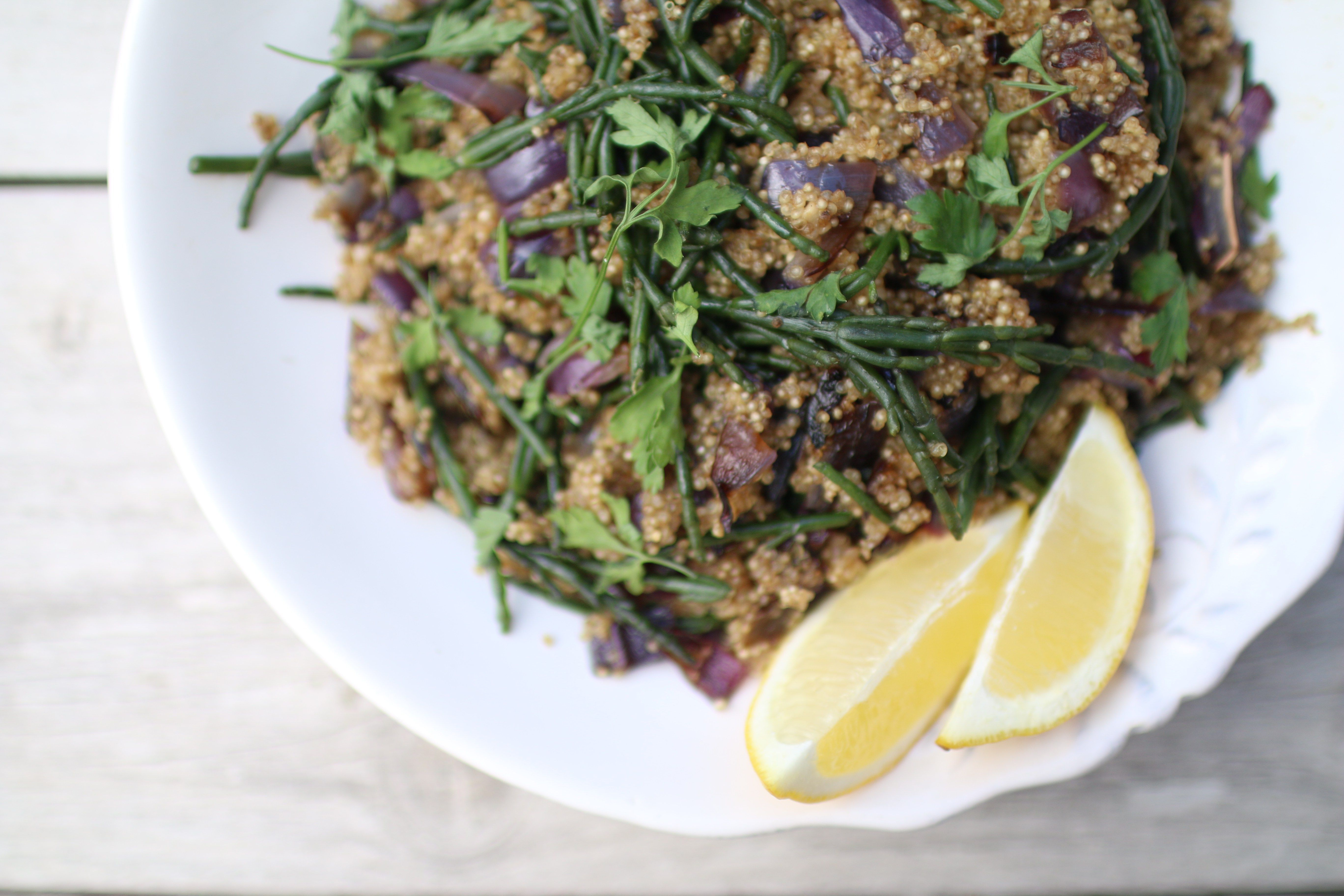 Quinoa and Samphire Salad | A super simple salad, perfect for spring/summer time | Mind Body Bowl