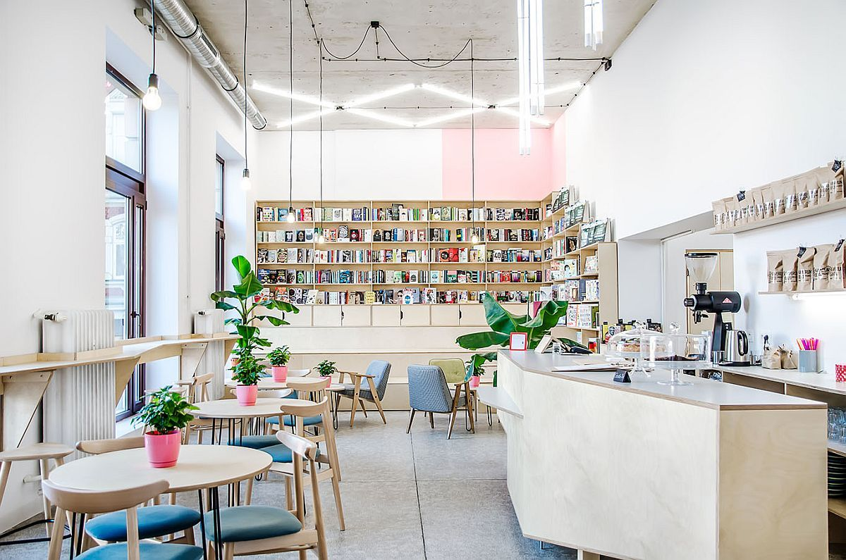 This Trendy Coffee House And Bookstore In Poznan Was An Old Milk