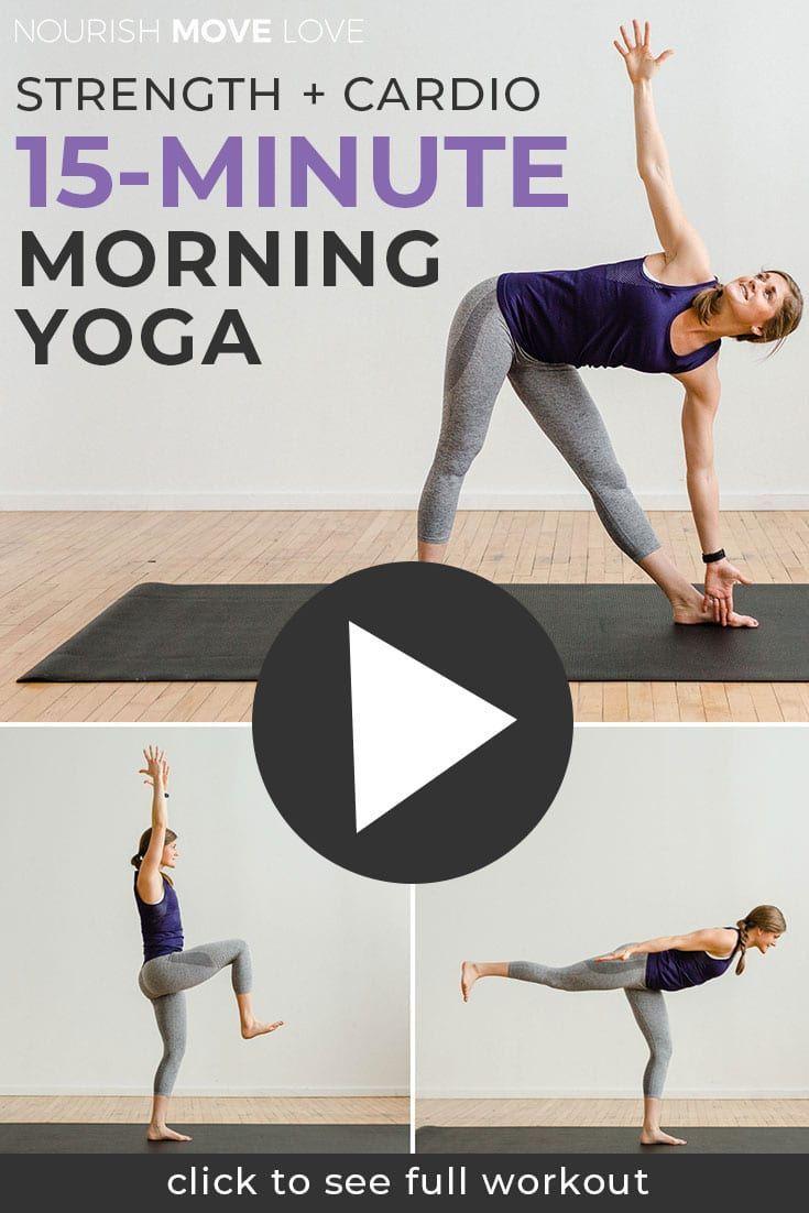 15-Minute Power Yoga At Home (No Equipment)   Nourish Move Love