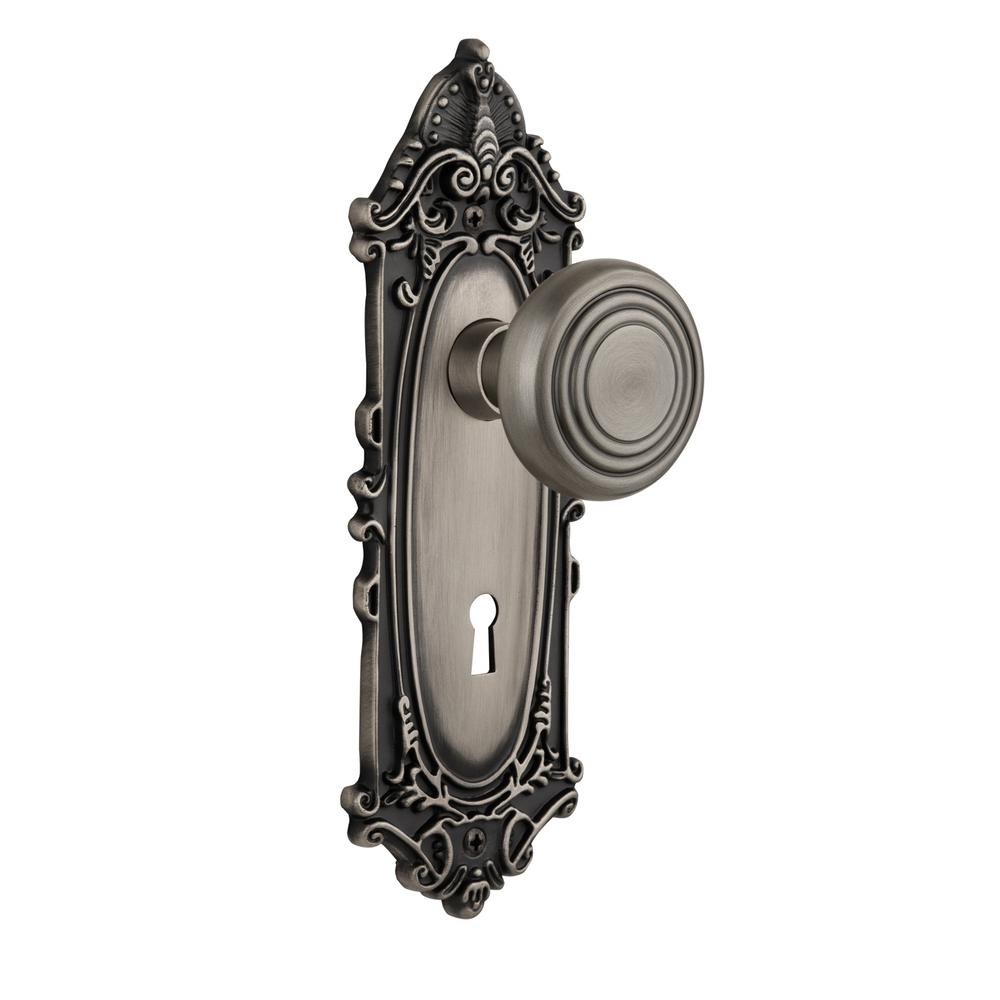 Merveilleux Nostalgic Warehouse Victorian Plate With Keyhole 2 3/4 In. Backset Antique  Pewter Privacy Bed/Bath Deco Door Knob 718886   The Home Depot