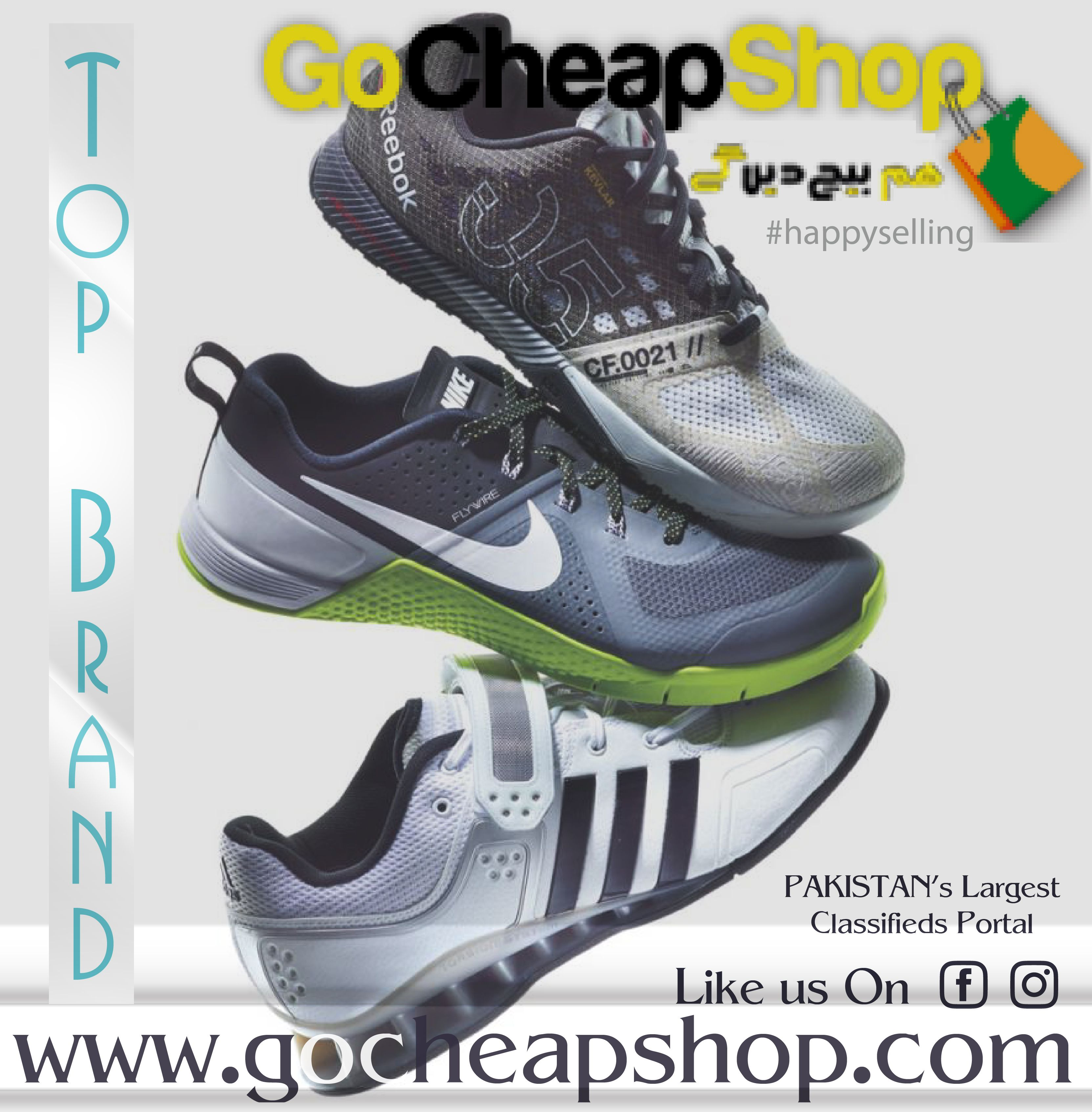 'Top #shoebrands'  Their logos enhance the shoes worn by the most celebrated competitors on the planet. They really offer for the privilege to give a competitor the footwear he would use for his rivalries. *NIKE! *ADIDAS! *REEBOK!