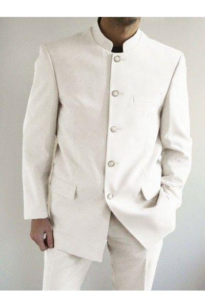 5c37033007087 Costume Col Mao | Y | Costume homme, Costume homme blanc et Costume ...