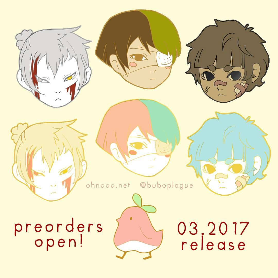 "309 Likes, 21 Comments - buboplague (@instaplague) on Instagram: ""All these are up for preorder! The heads will be 1"", while the little momopyo bird will be 19cm.…"""