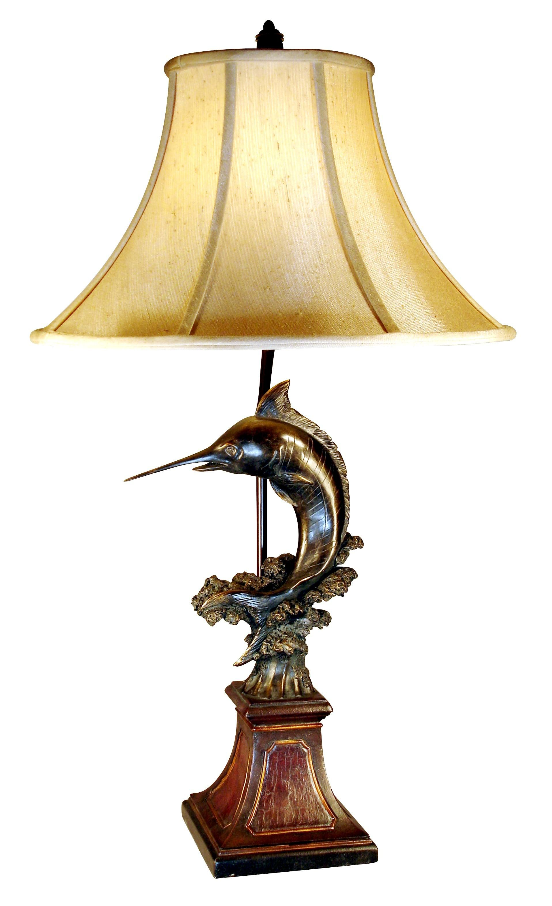 Leaping Marlin Fish Table Lamp - X' Lamps
