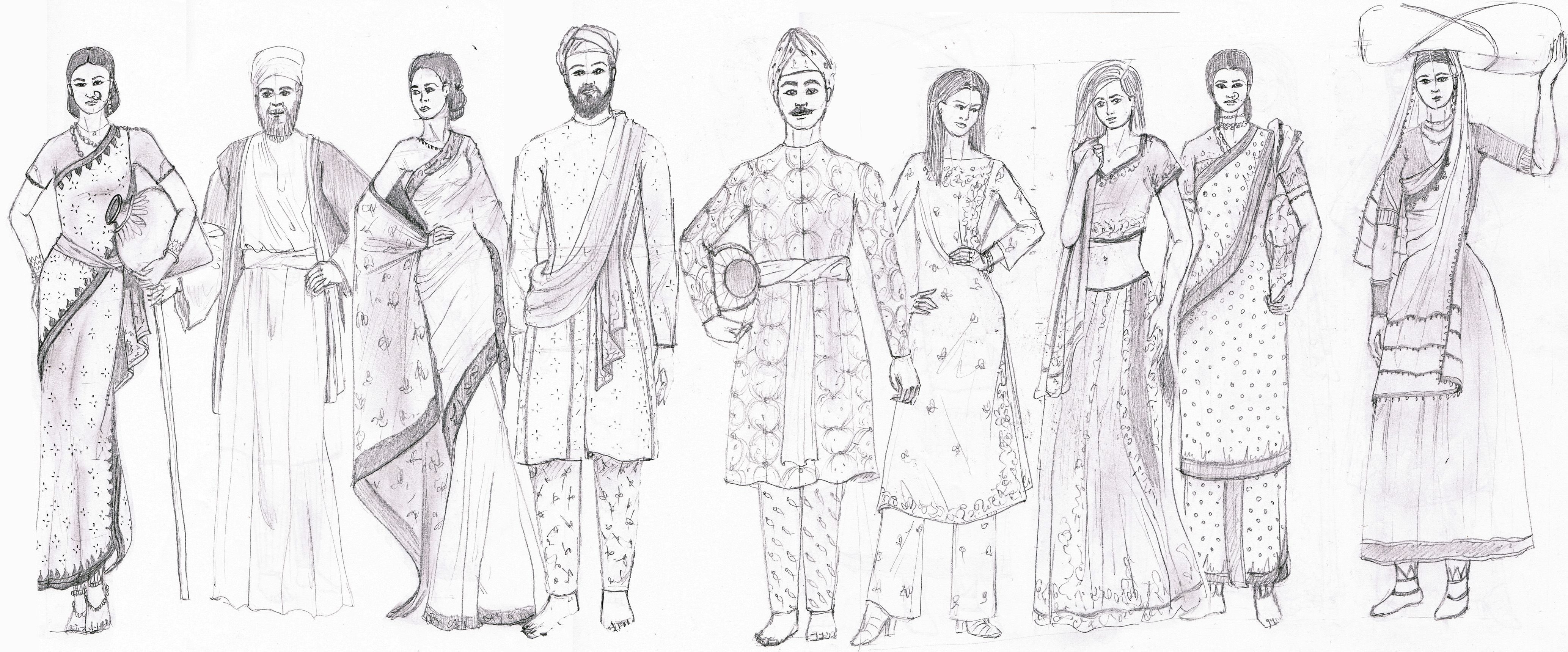 Ancient India Fashion History Study By Fashion Artventures Fashion History India Fashion Fashion Illustrations Techniques