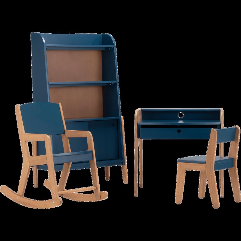 Bureau Pour Enfant En Acacia Bleu Figuerolles Raphael Bureau Enfant Enfant Bleu Chaise Enfant Bureau Enfant
