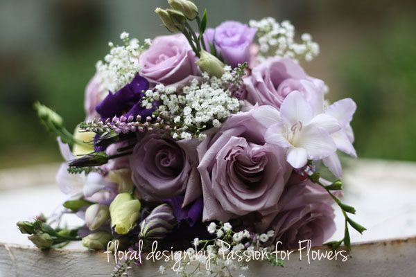Add Orchids Instead Of Other White Flowers And It Is Beautiful Bridesmaids Bouquet Purple