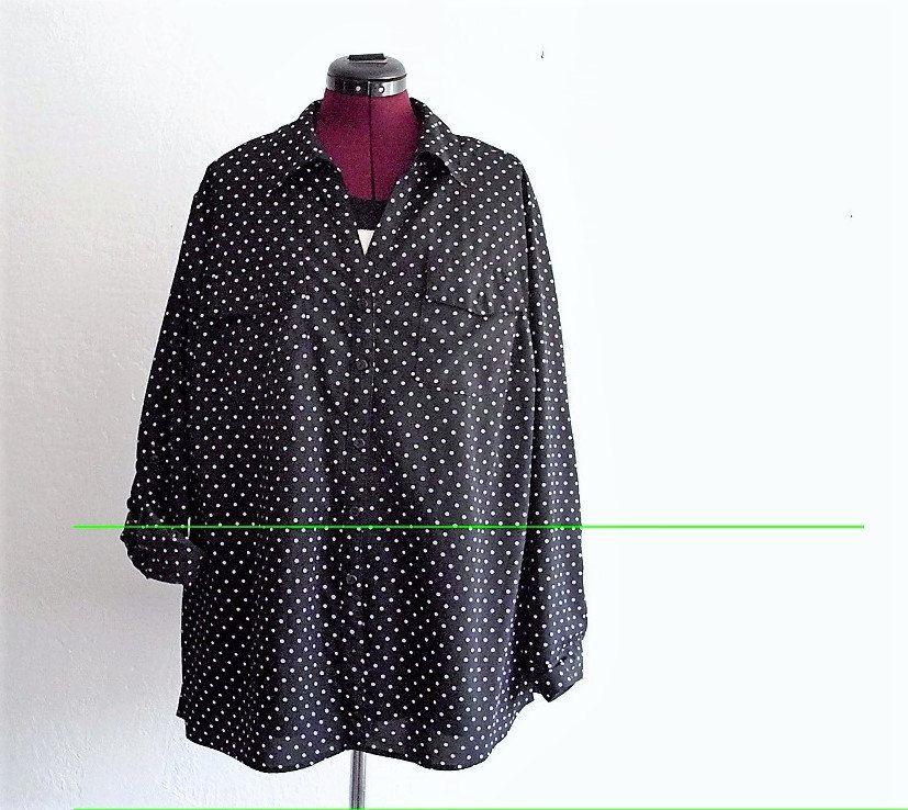Plus Size Black polka dot Blouse by KheGreen on Etsy