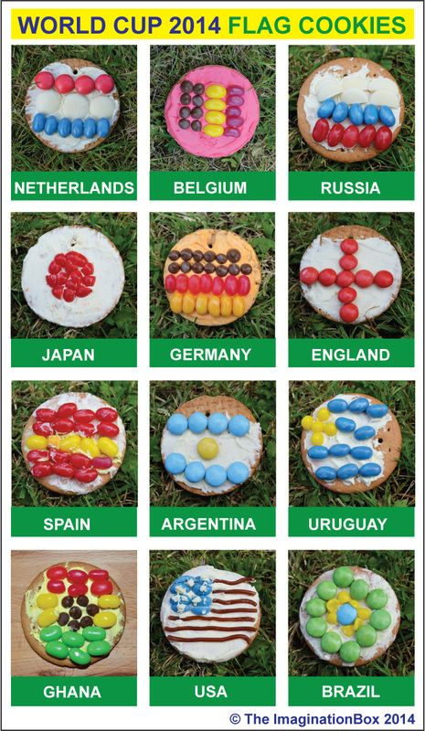 World Cup 2014  Edible Flag Medals - yum! Step by step instructions on my blog - and there's no baking, just making! (and eating)